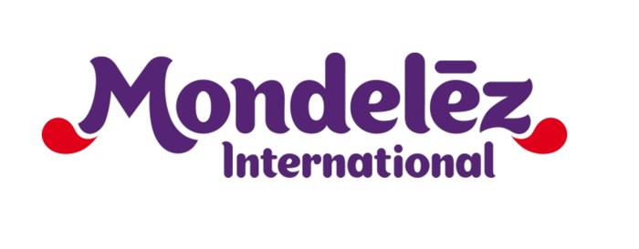 Mondelez International corporate logo in purple type against white background.