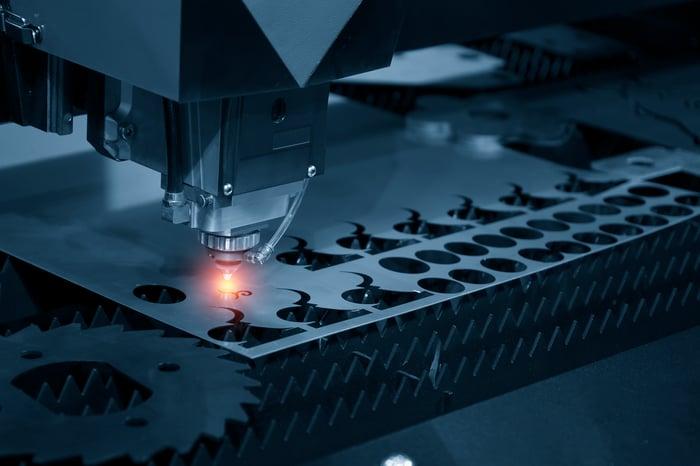 CNC machine using lasers