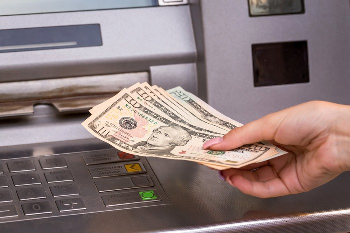 Withdrawing cash from an ATM