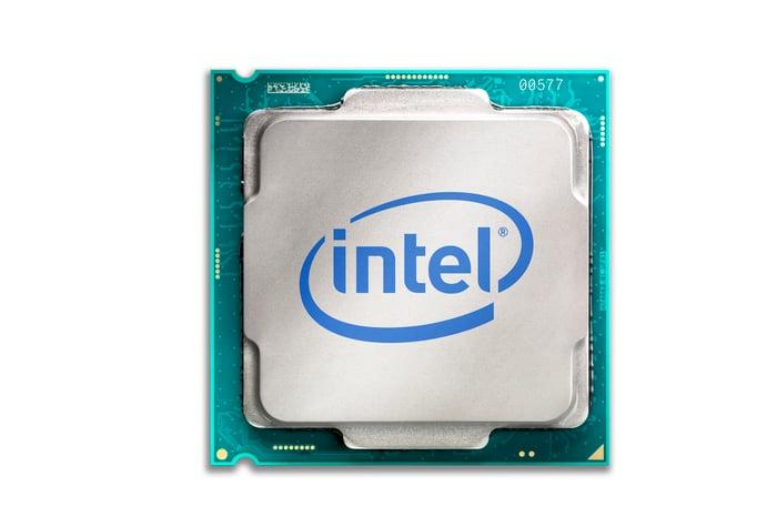An Intel processor.