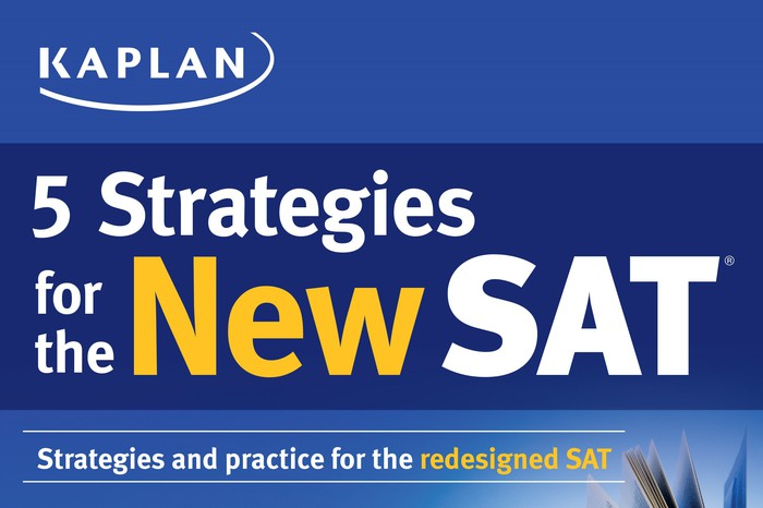 SAT preparation materials marketing pamphlet from Kaplan education business.