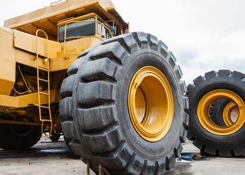 Large Equipment With a Giant Tire