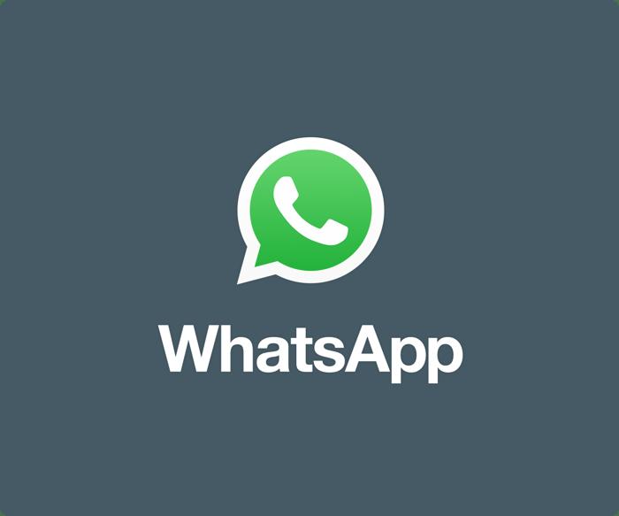 WhatsApp logo.