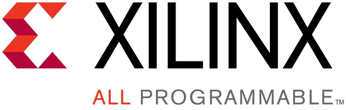 "Xilinx logo, including the ""all programmable"" tagline."