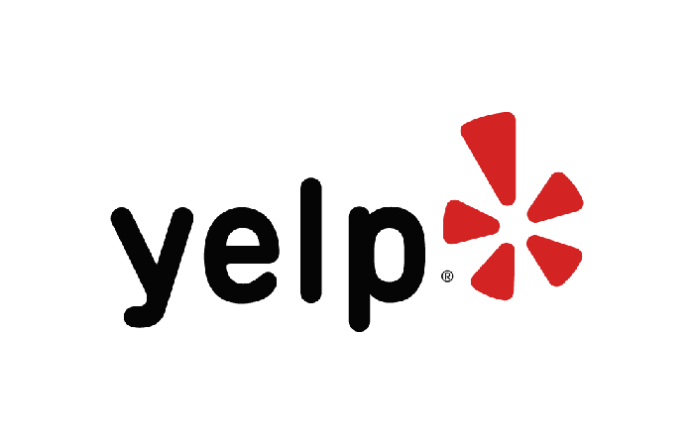 The Yelp logo.