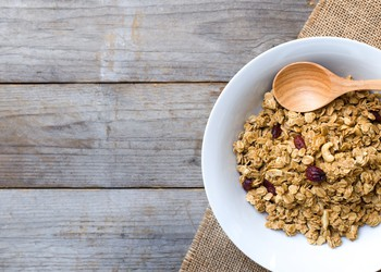 Cereal Bowl On Wood Table