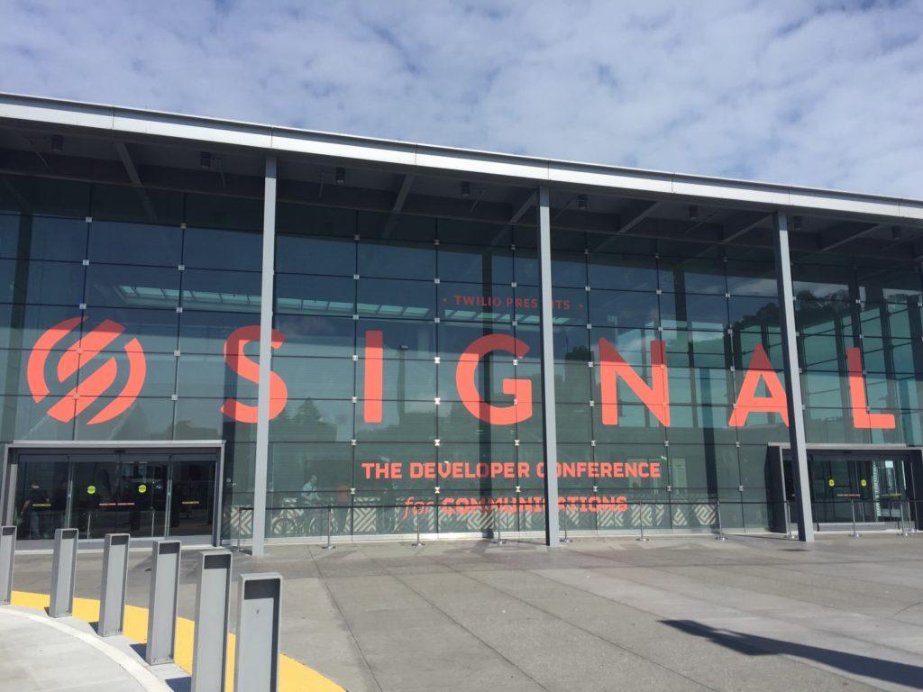 Twilio's Signal conference building exterior.