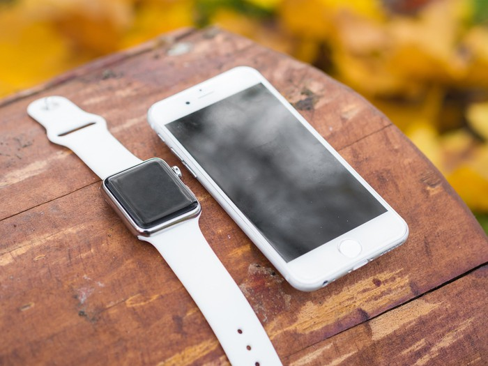 Apple Watch next to iPhone