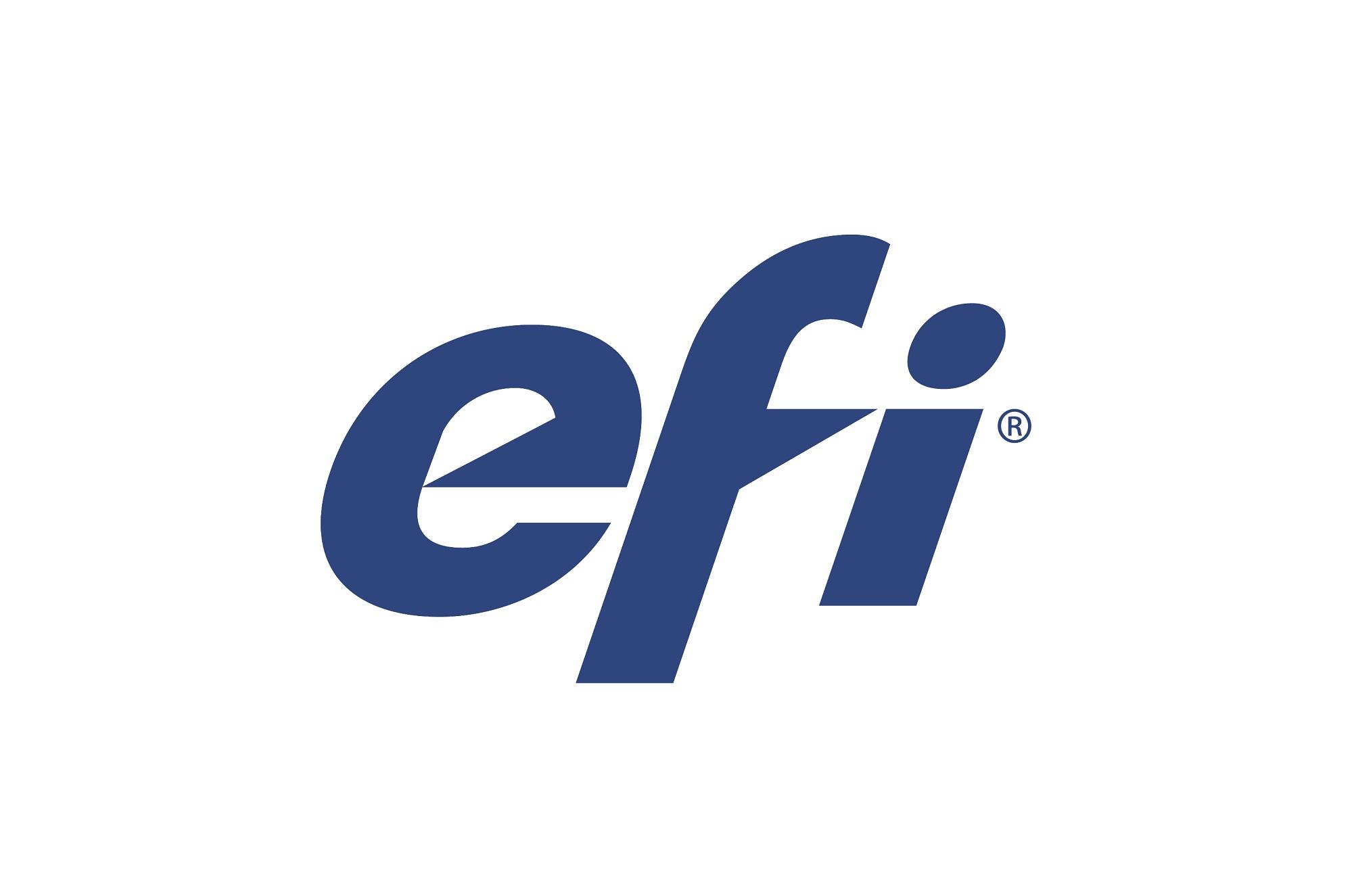 "Electronics for Imaging ""EFI"" logo in blue"