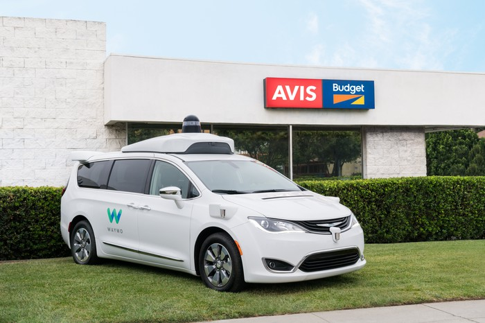 Waymo-owned car with self-driving technology