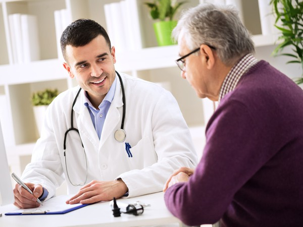 doctor and patient talking medical healthcare