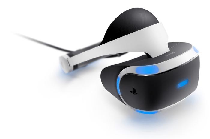 A Sony Playstation virtual reality headset