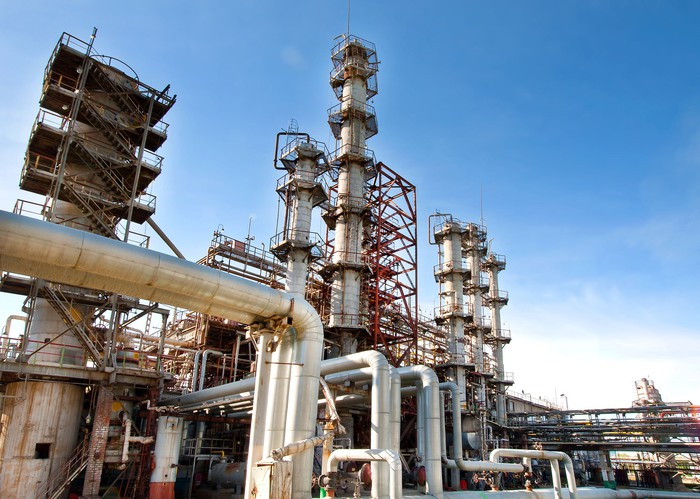A gas-processing plant.