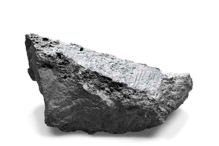 A piece of nickel ore.