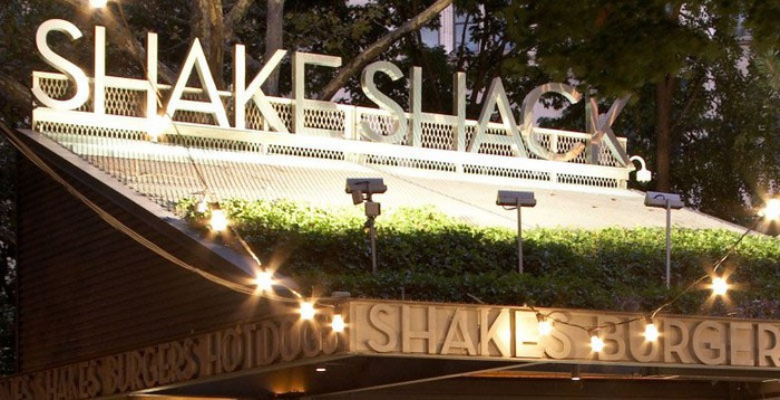 Shake Shack restaurant at night