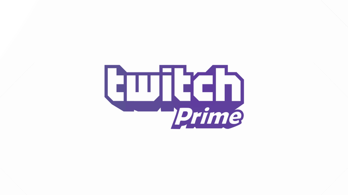 Twitch Prime logo in purple type against white background.