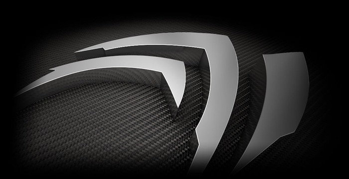 Stylized Nvidia logo in at least fifty shades of gray.