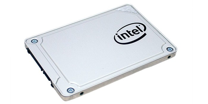 An Intel client solid-state drive powered by a Silcion Motion conter