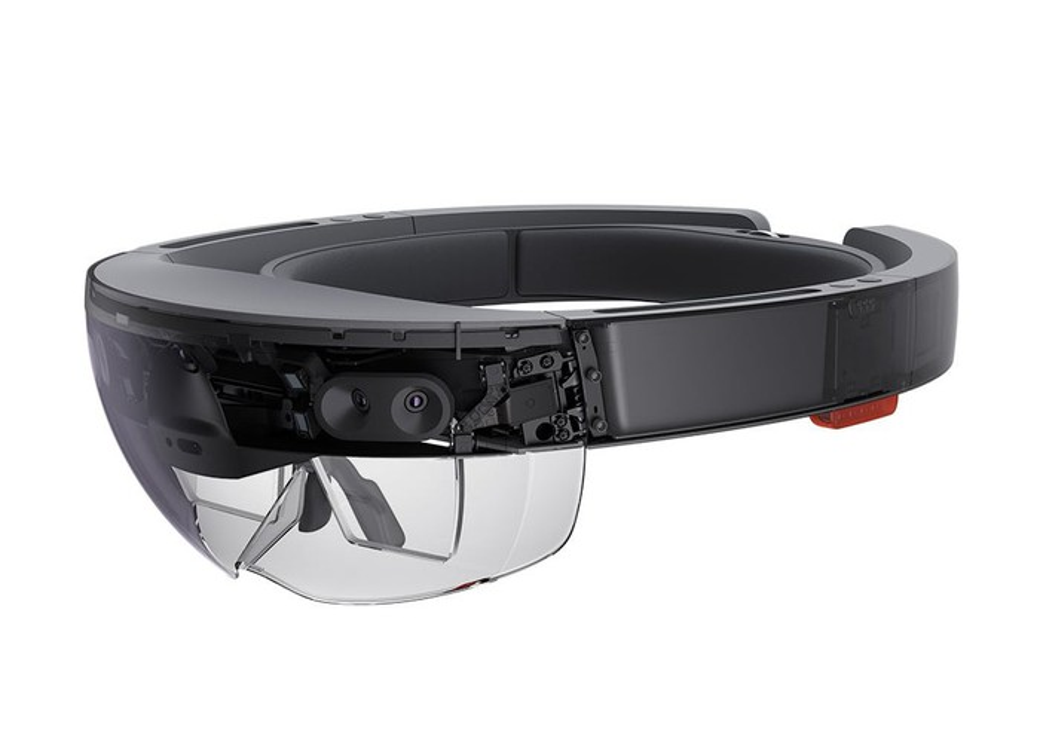 The Microsoft HoloLens mixed reality headset.
