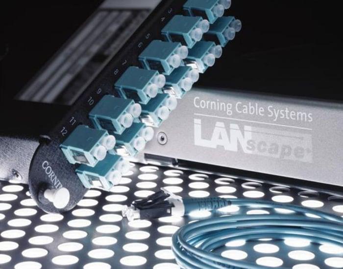 Corning fiber-optic networking components.