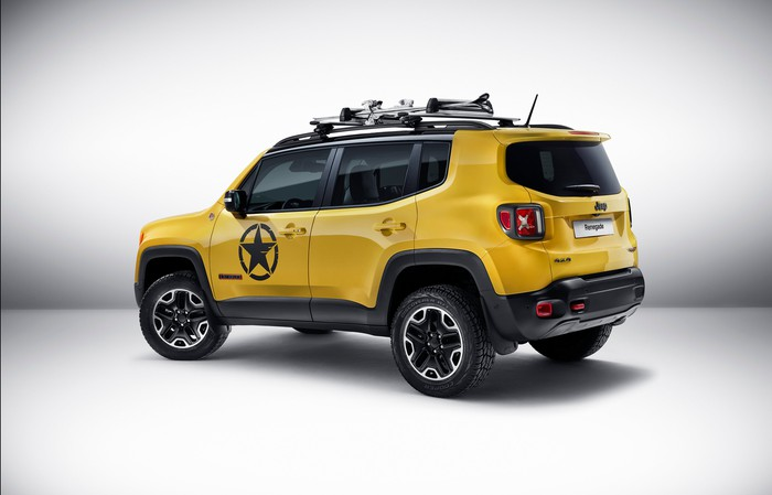 Yellow Jeep from Fiat Chrysler.
