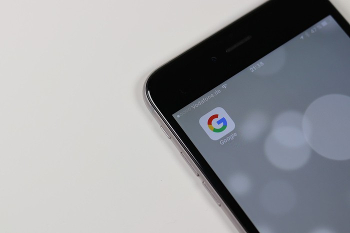 Google app on an iPhone
