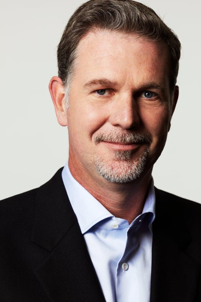 Netflix CEO Reed Hastings -- head shot