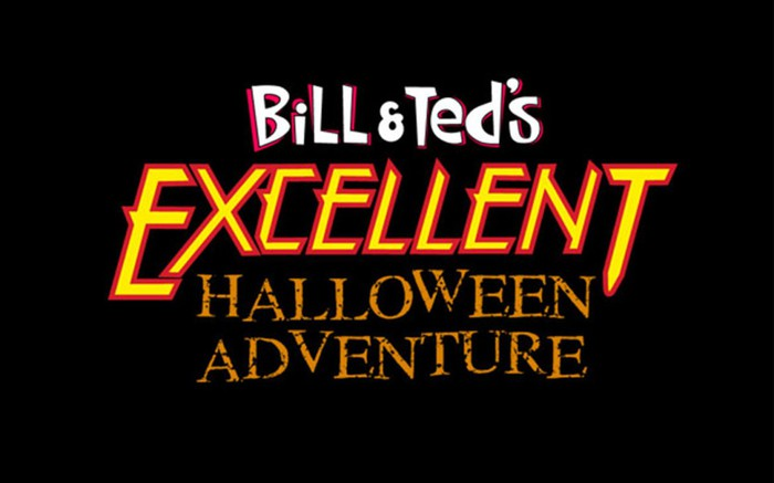 Title screen for Bill & Ted's Excellent Halloween Adventure.