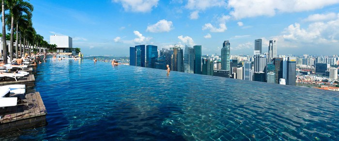 The Infinity Pool atop the Marina Bay Sands, Singapore.