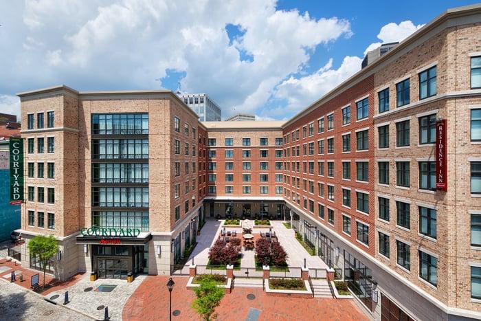 Courtyard by Marriott location.
