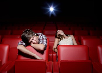 Sleeping in movie theater