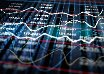 stock market chart color