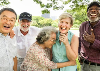 group of old people laughing