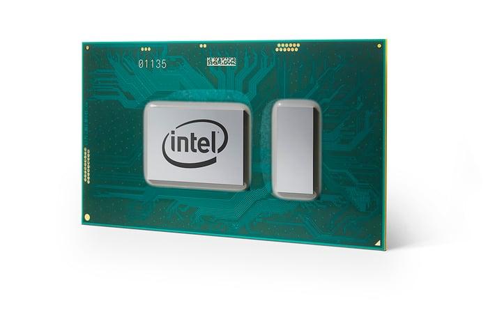 An Intel eighth-generation Core processor.