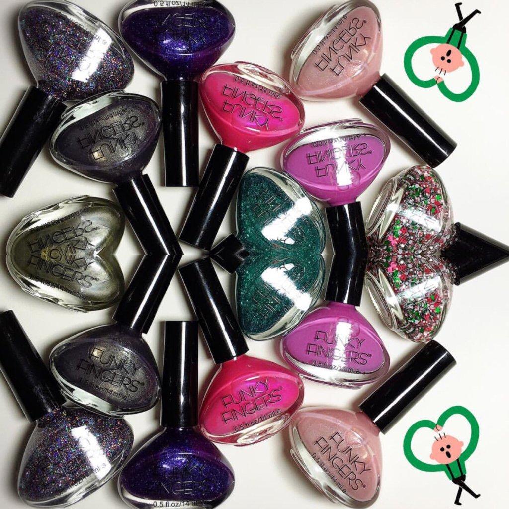 An array of nail polish.