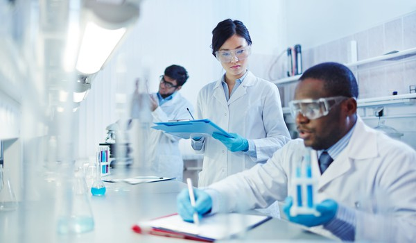 Getty Chemists in Lab Multicultural
