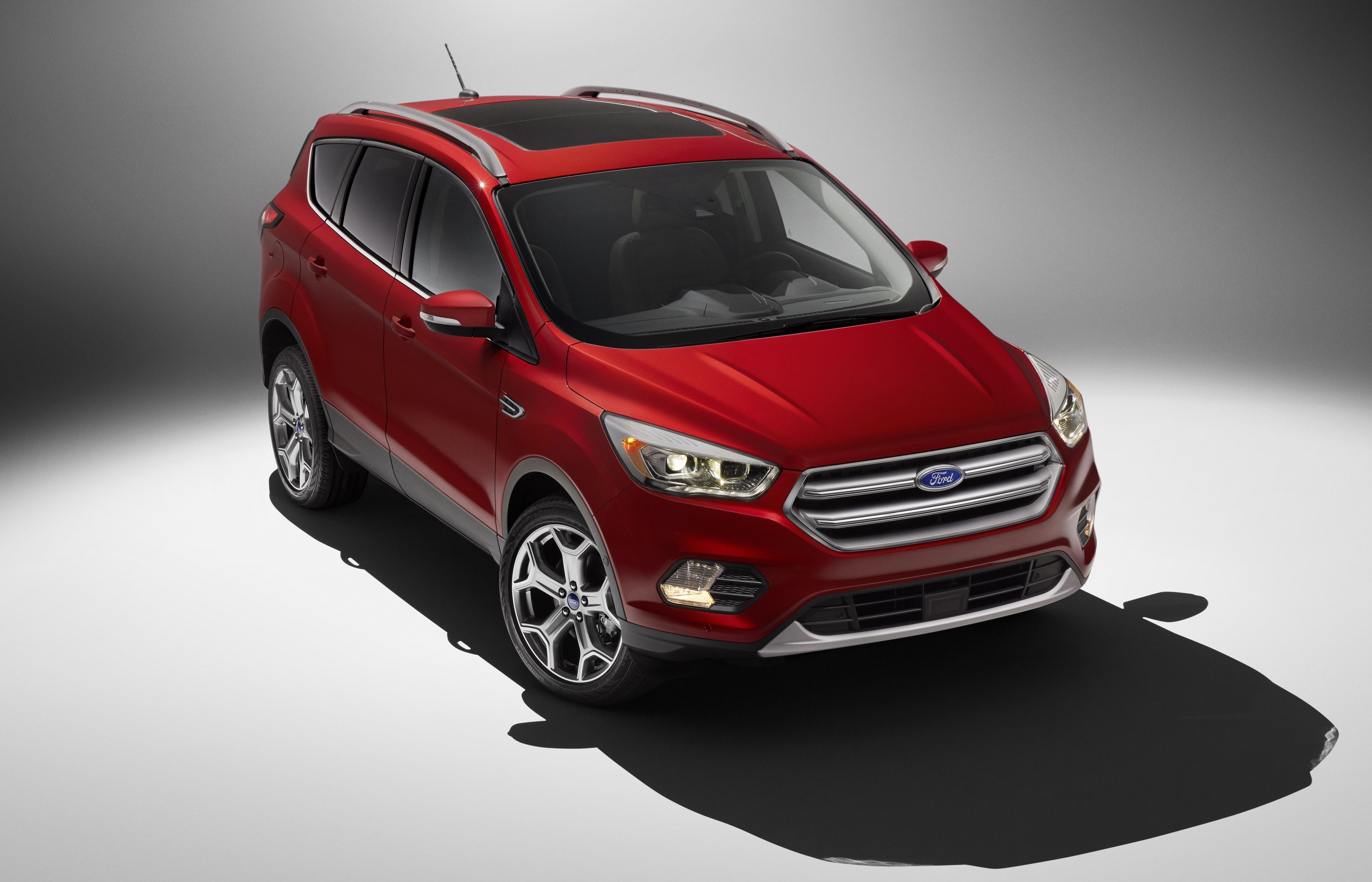 A red 2017 Ford Escape SUV.
