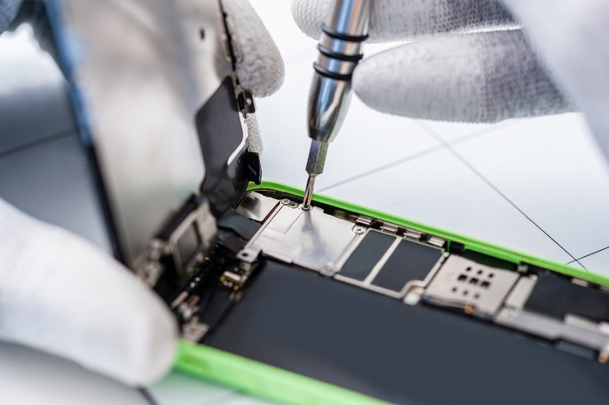 Repairing a cell phone.