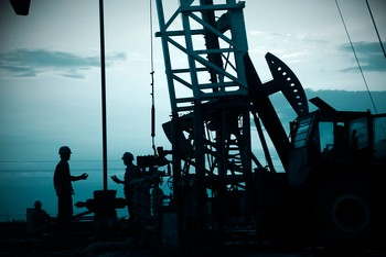 drilling rig dark