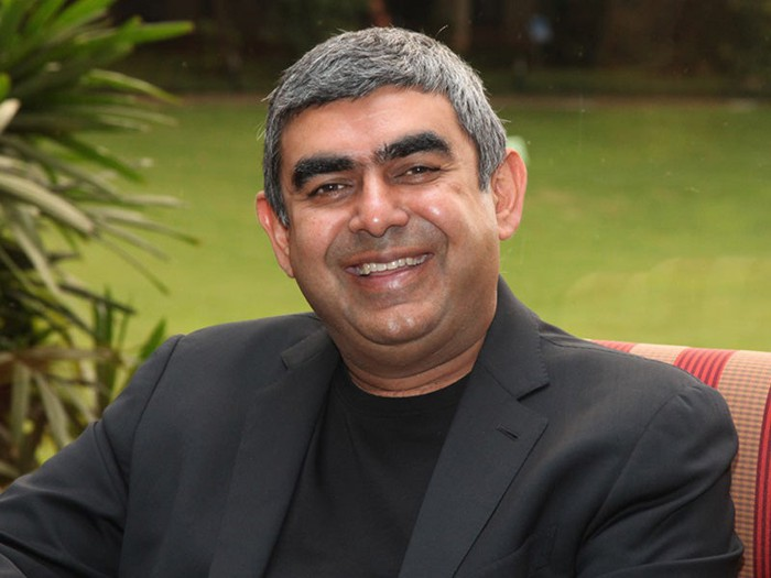 A shot of former Infosys CEO Dr. Vishal Sikka.