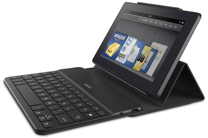 Amazon Fire 7 with Belkin keyboard