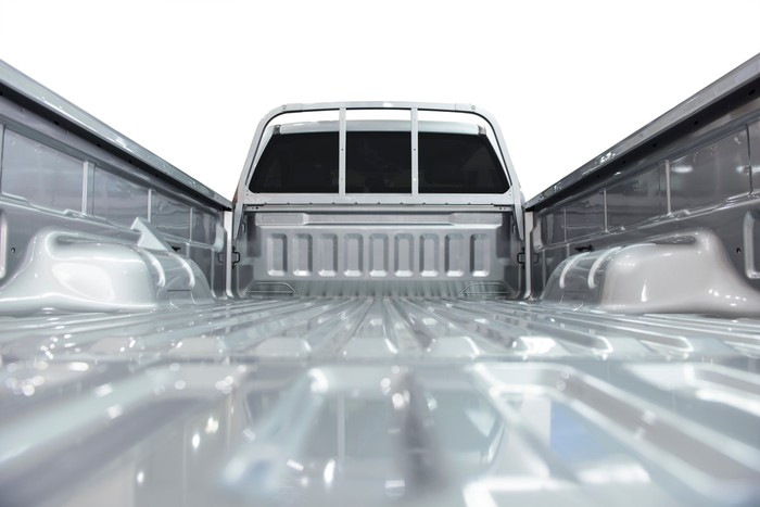 Bed of pickup truck