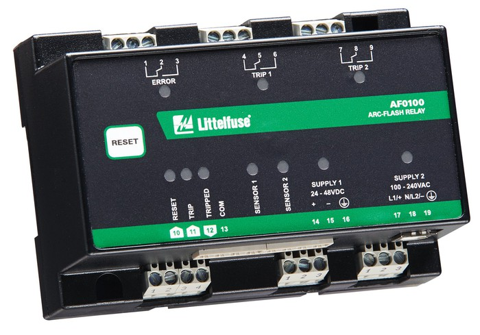 A Littelfuse protective relay for power distribution systems.