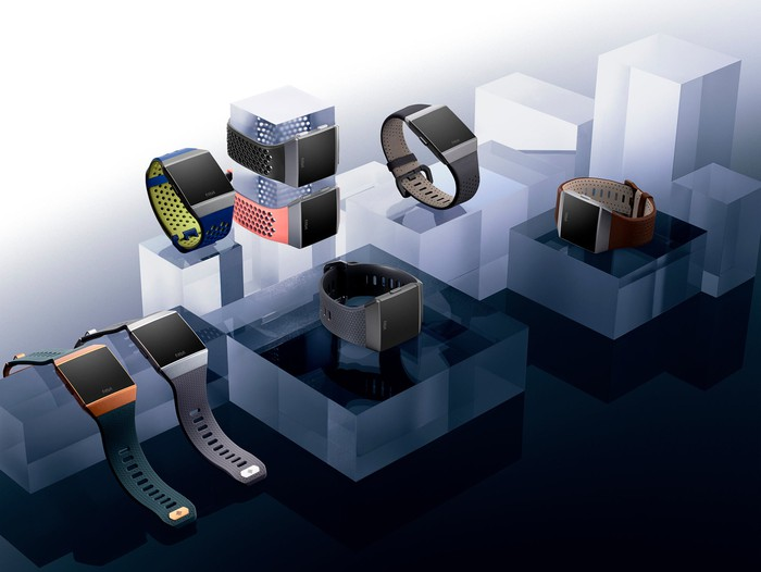 Numerous Ionic smartwatches on display