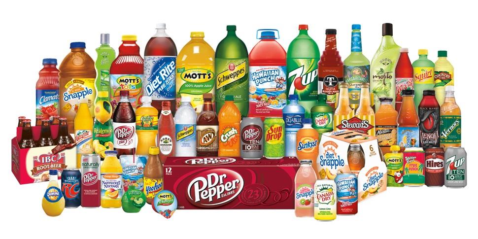 Dr Pepper Snapple Group's brand portfolio.