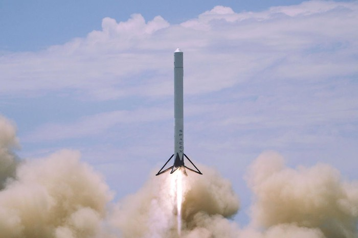 SpaceX rocket launching