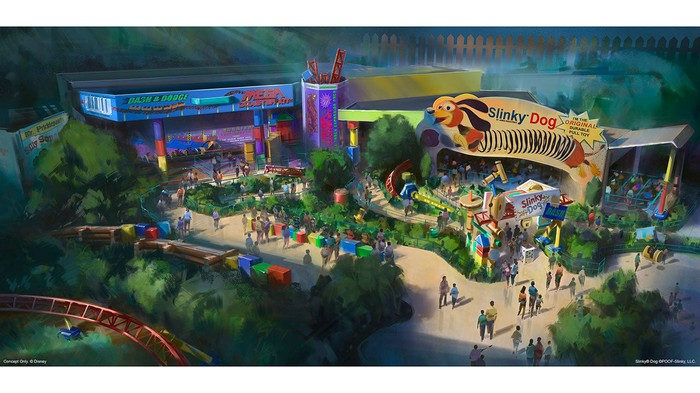 Concept art for Toy Story Land.