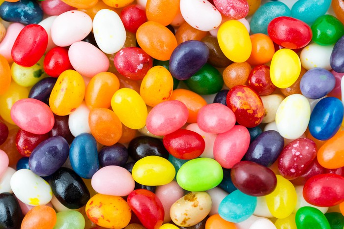 A pile of jelly beans.