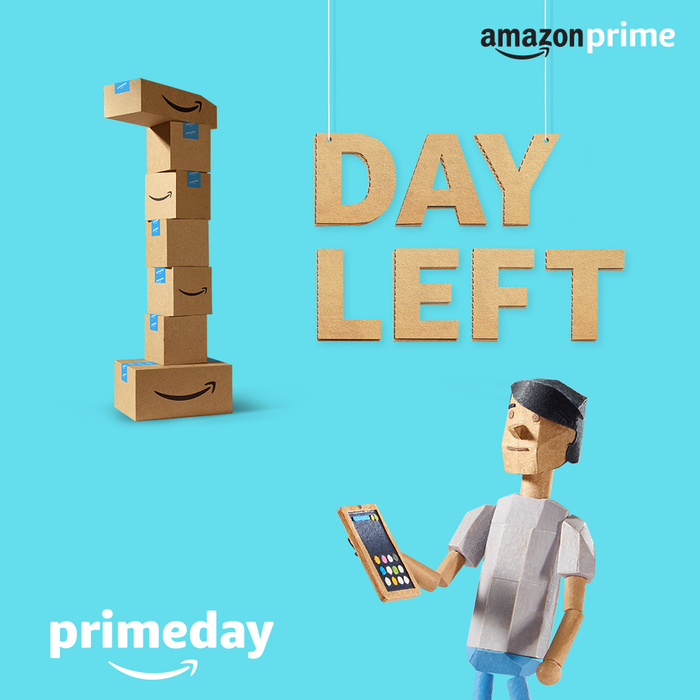 Amazon Prime Day promotional poster.