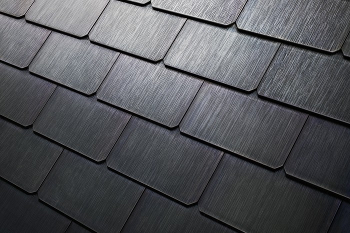 Tesla Textured solar glass tiles.